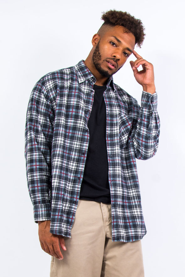 90's Vintage Check Flannel Shirt