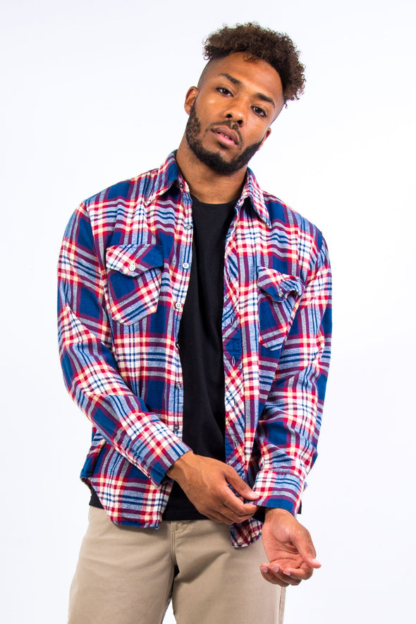 Vintage Check Pattern Flannel Shirt