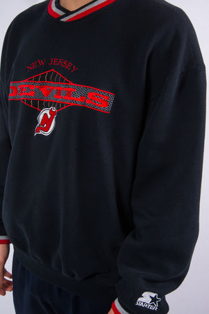 Vintage Starter New Jersey Devils NHL Ice hockey team sweatshirt