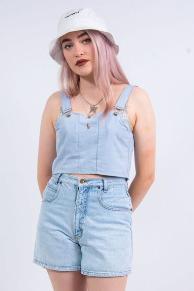 Rework Ralph Lauren Blue Dungaree Top