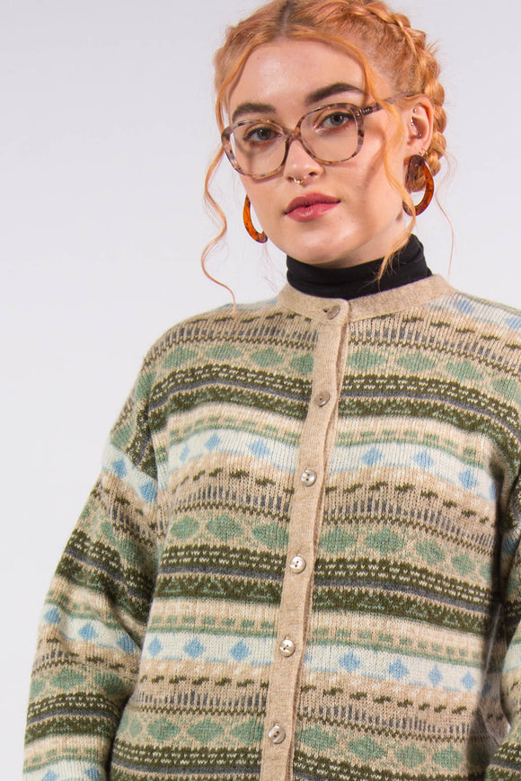 Vintage Fairisle Knit Cardigan