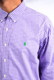 Ralph Lauren Purple Gingham Check Shirt