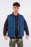 Wrangler Hero Denim Gilet Shearling Body Warmer