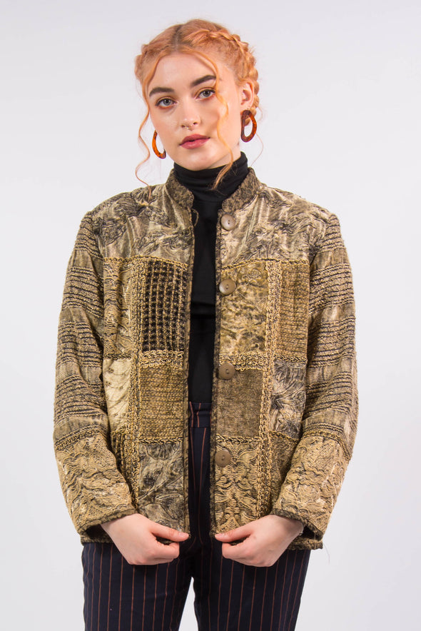 Vintage Patchwork Tapestry Jacket