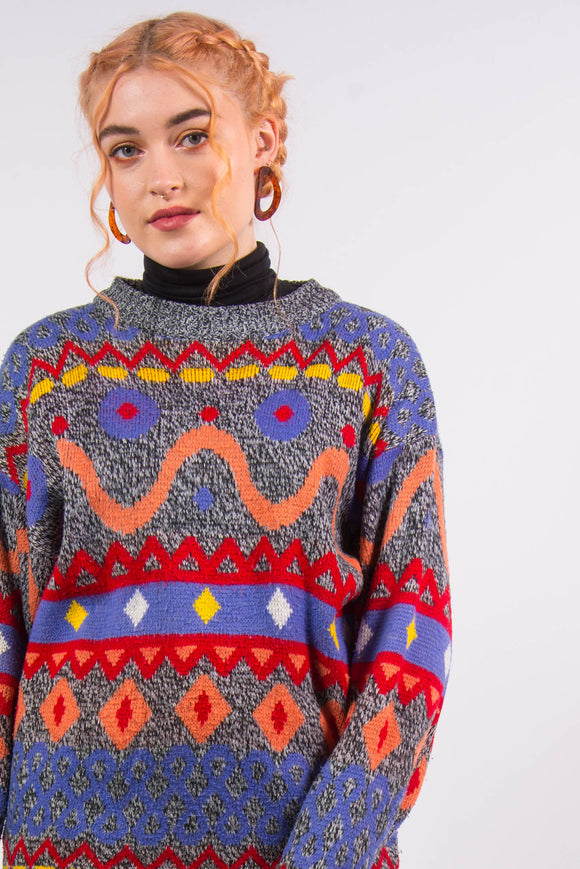 Vintage 90's Colourful Knit Jumper