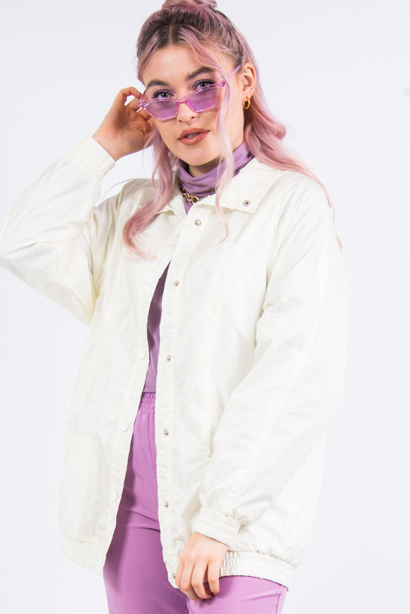 Vintage 90's White Shell Jacket
