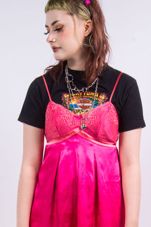 Vintage 90's Cute Hot Pink Slip Dress