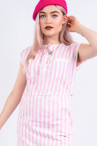 Vintage 90's Pink Candy Stripe Dress