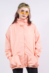 90's Vintage Peach Shell Bomber Jacket