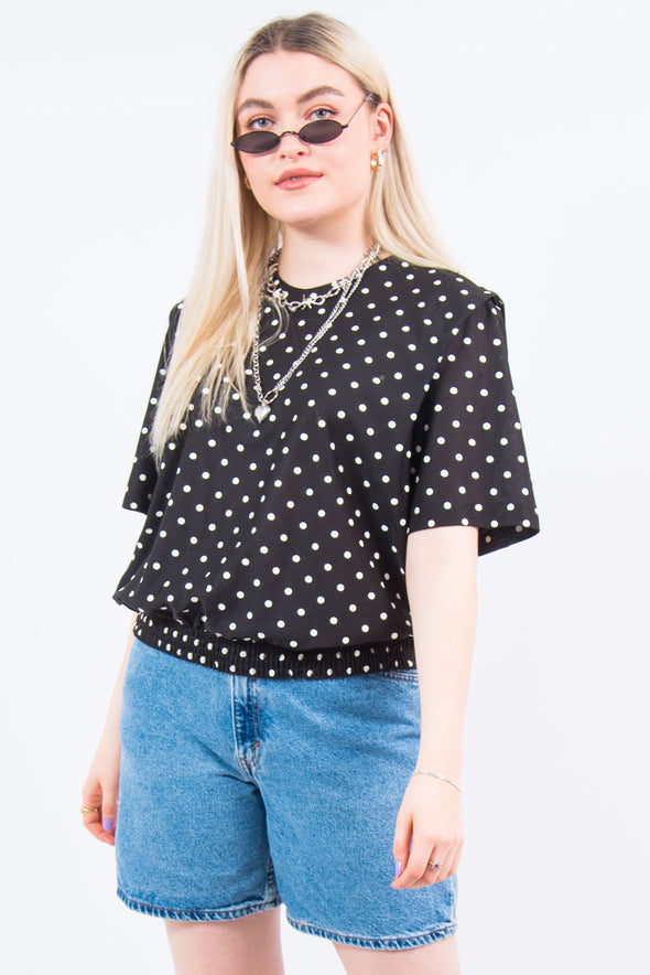 Vintage 90's Polka Dot Top Blouse