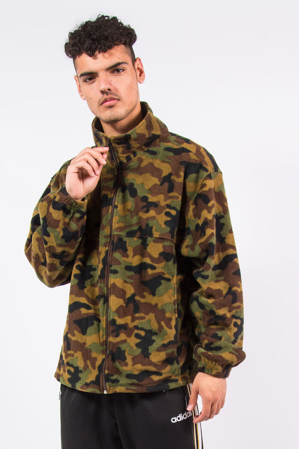 Forest Camouflage Zip Fasten Fleece