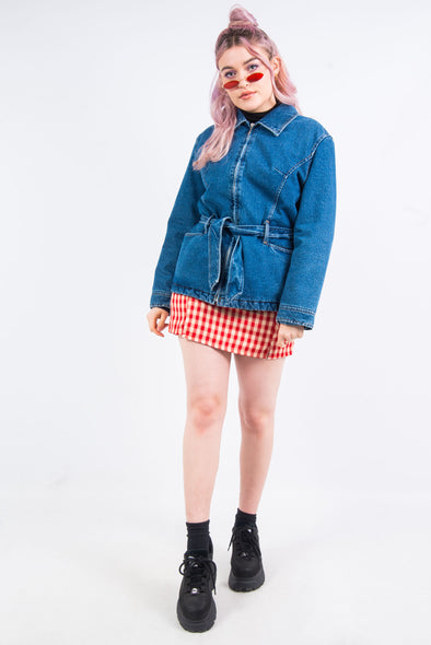 Vintage 90's Tie Waist Denim Jacket
