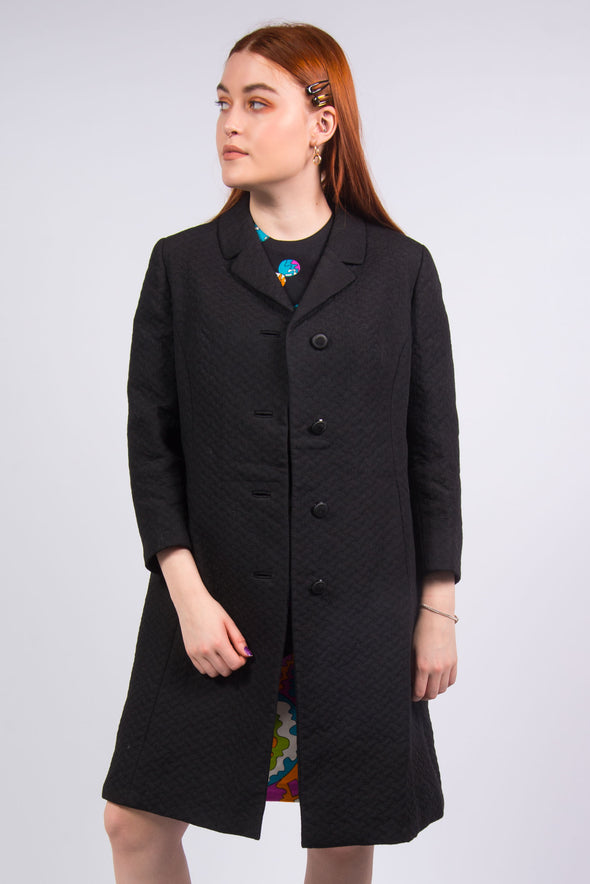 Vintage 70's Quilted Duster Coat Jacket