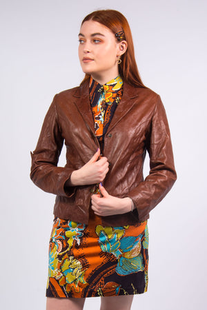 Vintage 70's Brown Leather Jacket