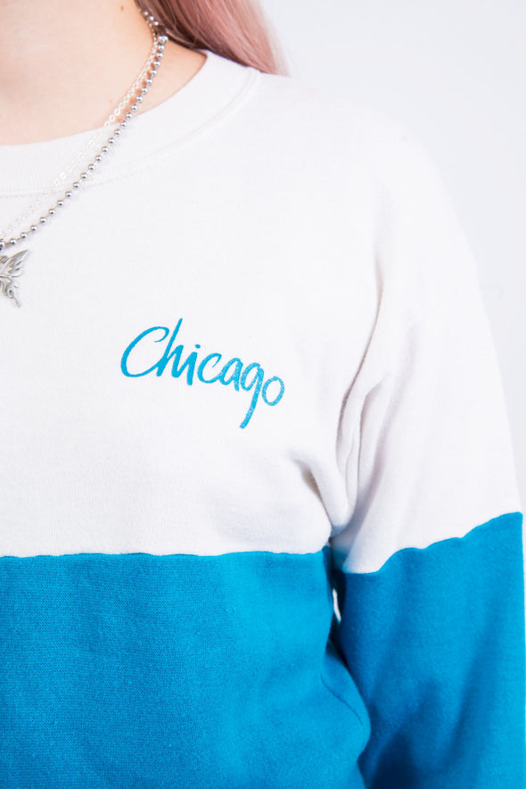 Vintage 90's Colour Block Chicago Sweatshirt