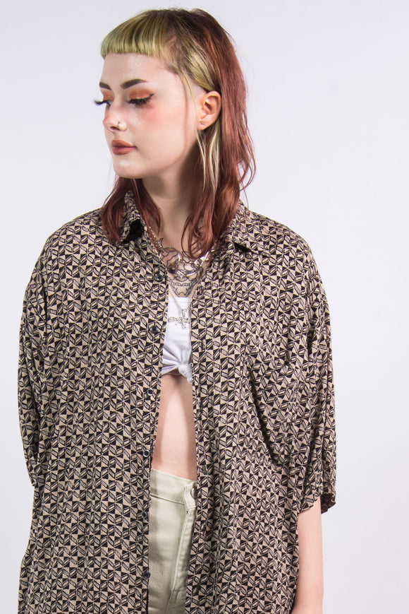 Vintage 90's Abstract Oversize Shirt
