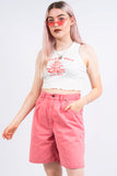 Vintage 90's Pink Denim Mom Shorts