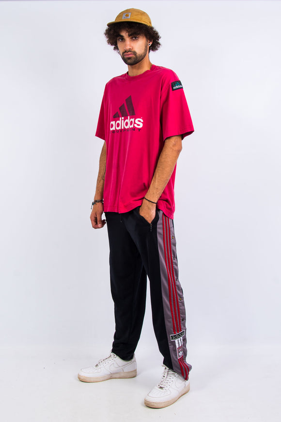 90's Vintage Adidas Popper Tracksuit Bottoms