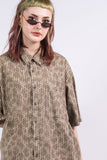 Vintage 90's Grunge Patterned Shirt