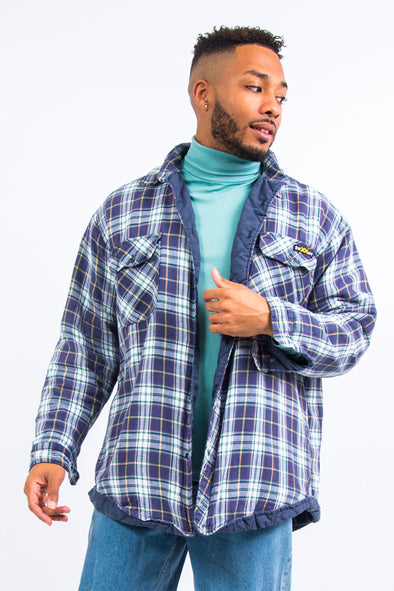 Vintage Blue Padded Flannel Shirt