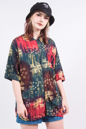 Vintage 90's Multicoloured Abstract Shirt