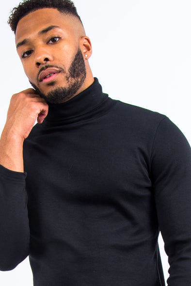 Vintage Black Roll Neck