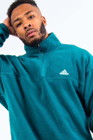 90's Vintage Adidas 1/4 Zip Fleece