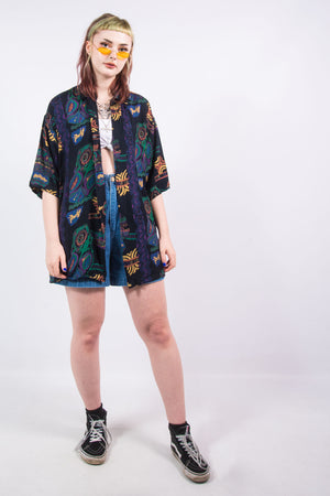 Vintage 90's Oversize Patterned Shirt