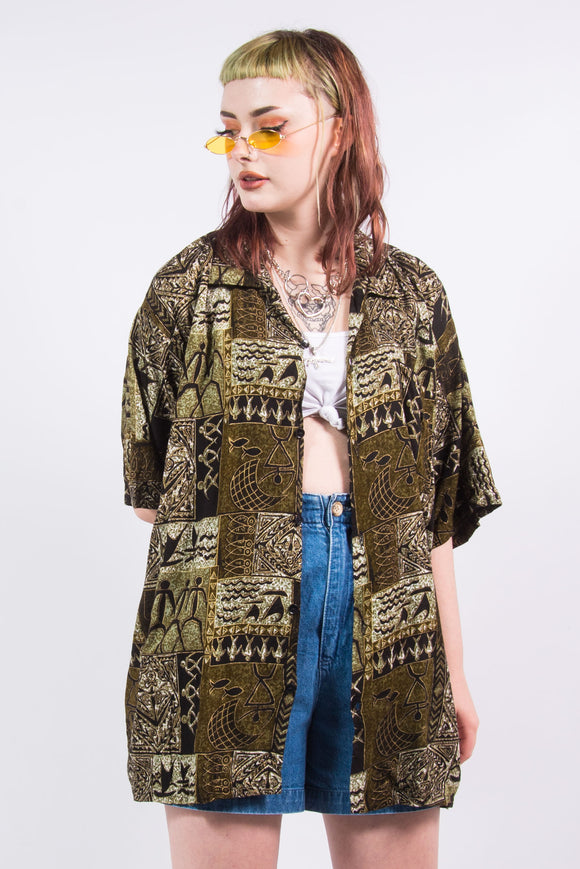 Vintage 90's Tribal Print Shirt