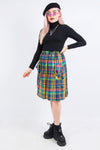 Vintage 90's Check Plaid Skirt