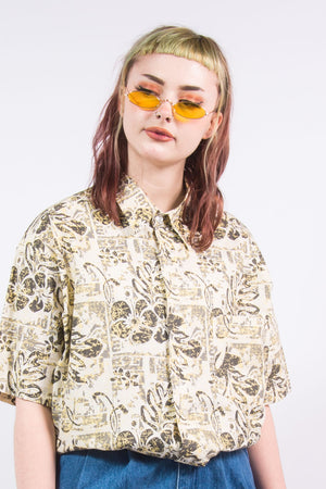 Vintage Patterned Vacation Shirt