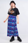 Vintage 90's Aquatic Print Wrap Skirt