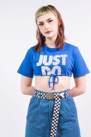 Vintage Blue Nike Super Cropped T-Shirt