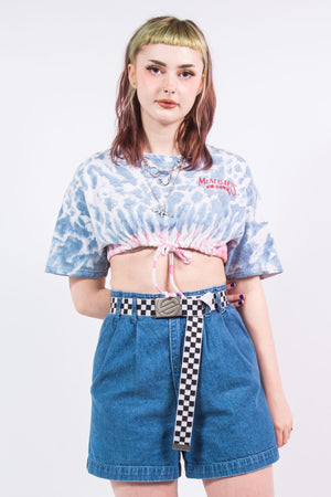 Vintage Super Cropped Tie Dye T-Shirt