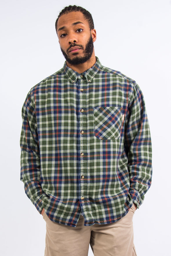 Woolrich Green Check Flannel Shirt