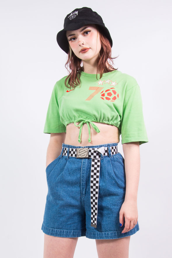 Vintage Green Nike Cropped T-Shirt