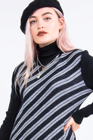 Vintage 70's Striped Roll Neck