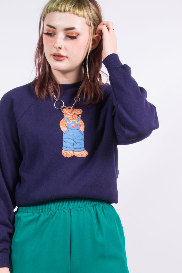 Vintage Cute Teddy Bear Sweatshirt