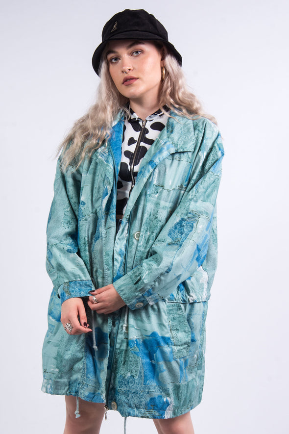 Vintage 90's Abstract Pattern Lightweight Parka Jacket