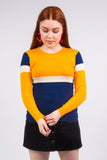Vintage 70's Knit Striped Jumper