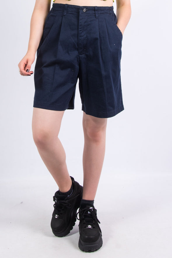 Vintage 90's Navy Blue Lee Mom Shorts