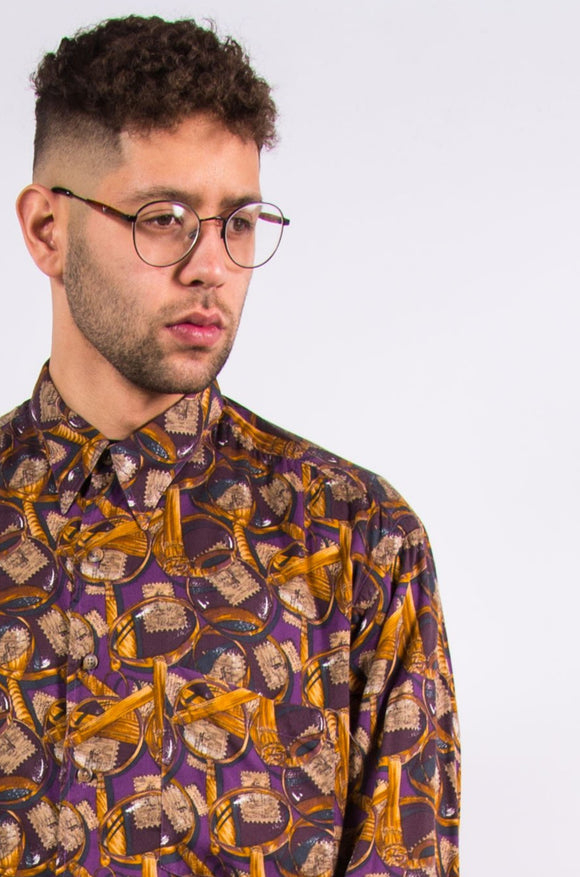 Vintage 90's Crazy Patterned Ike Behar Shirt