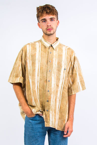 90's Short Sleeve Abstract Stripe Shirt