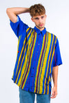 90's Royal Blue Stripe Shirt