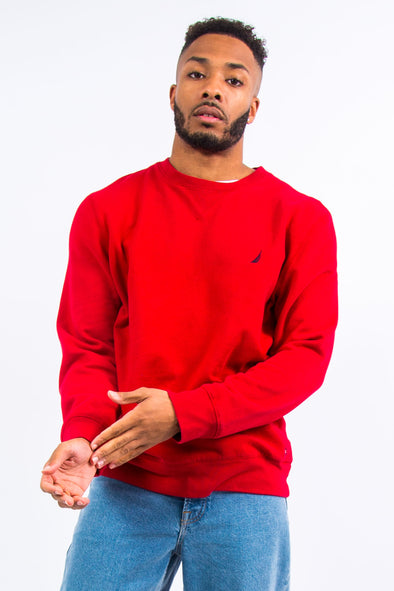 Nautica Red Crew Neck Sweatshirt