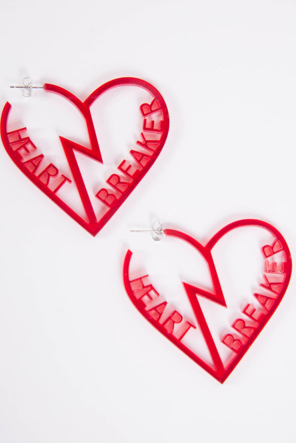 Heart Breaker Cute Acrylic Earrings