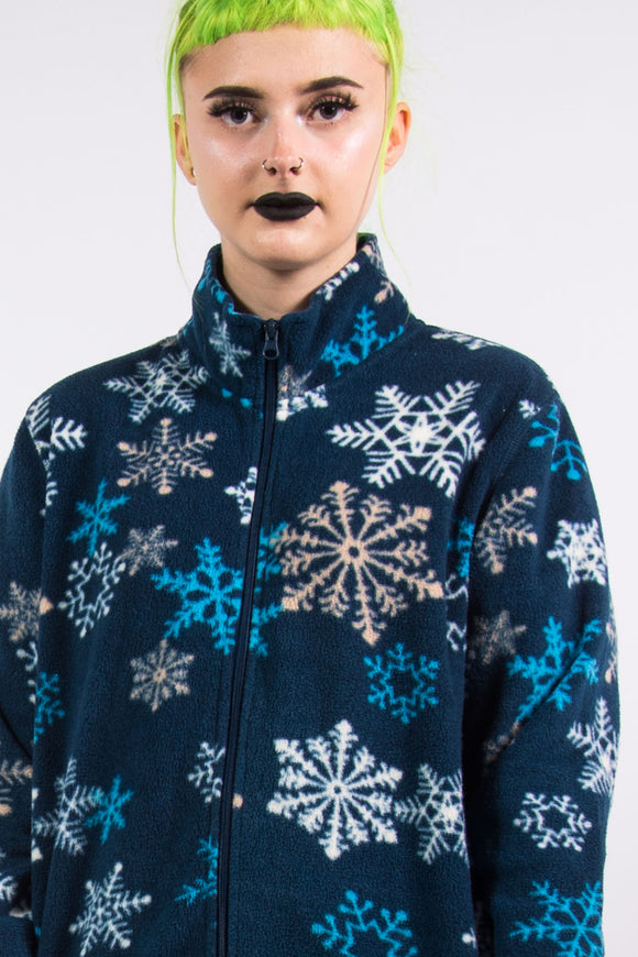 Vintage 90's Snowflake Fleece Jacket