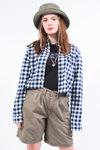 Vintage Gap Cropped Check Shirt