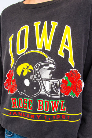 1991 Vintage Iowa Hawkeyes Rose Bowl Sweatshirt