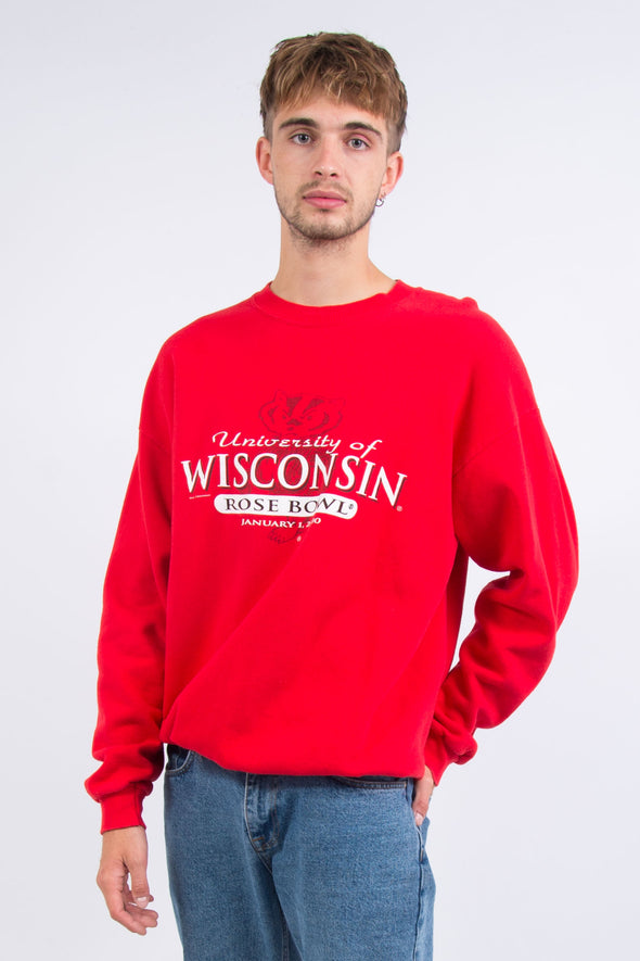 00s' University Of Wisconsin Rose Bowl Sweatshirt